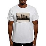 blackchesslineupsepiaframe Light T-Shirt