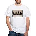 blackchesslineupsepiaframe White T-Shirt