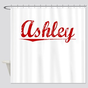 Ashley, Vintage Red Shower Curtain