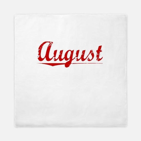 August, Vintage Red Queen Duvet