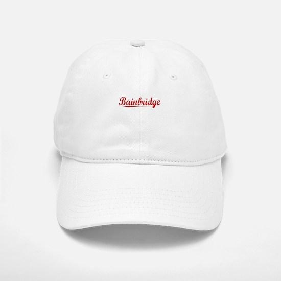 Bainbridge, Vintage Red Baseball Baseball Cap