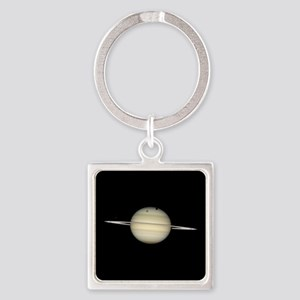 Saturn 4 Moons in Transit Keychains
