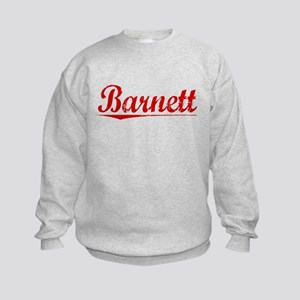 Barnett, Vintage Red Kids Sweatshirt
