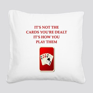 CARDS Square Canvas Pillow