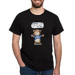 Cartoon Hamster Black T-Shirt