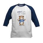 Cartoon Hamster Kids Baseball Jersey