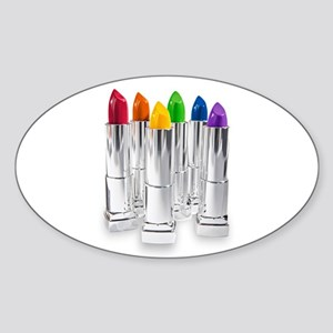 lipstick lesbian Sticker (Oval)