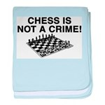 Chess Not a Crime baby blanket