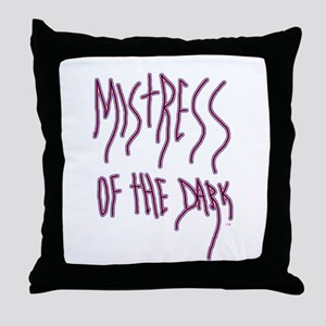 dark halloween mistress of the dark Throw Pillow