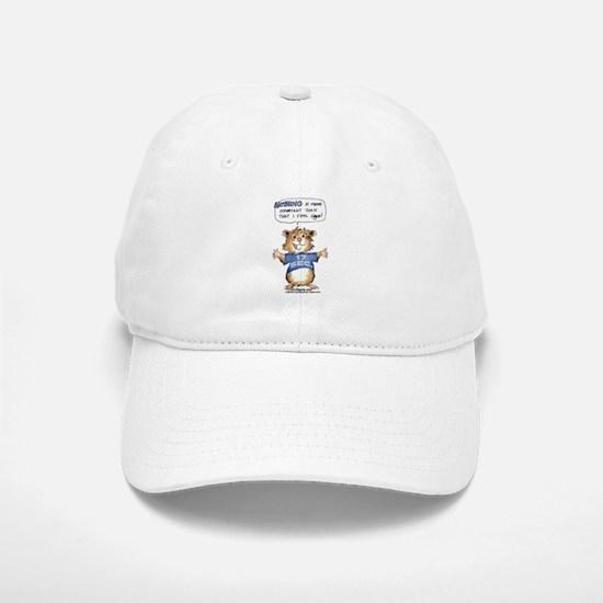 Cartoon Hamster Baseball Baseball Cap