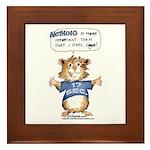 Cartoon Hamster Framed Tile