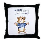 Cartoon Hamster Throw Pillow