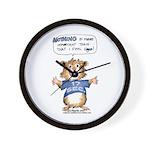 Cartoon Hamster Wall Clock