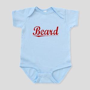 Beard, Vintage Red Infant Bodysuit