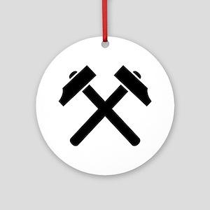 Crossed hammer Ornament (Round)
