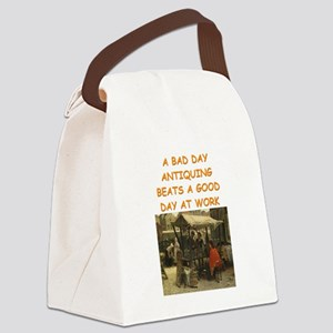 ANTIQUE collector Canvas Lunch Bag
