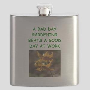 funny garden, gardener gardening joke Flask