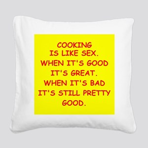 COOKING Square Canvas Pillow