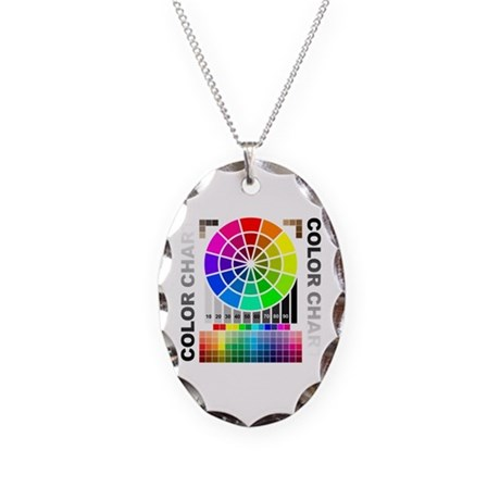 Color chart Necklace Oval Charm