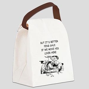 funny doctor joke Canvas Lunch Bag