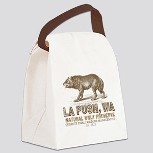 Quileute Wolf Preserve Canvas Lunch Bag