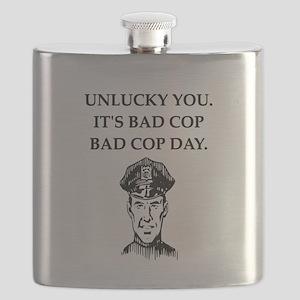 good cop bad cop poliice joke gifts apparel Flask