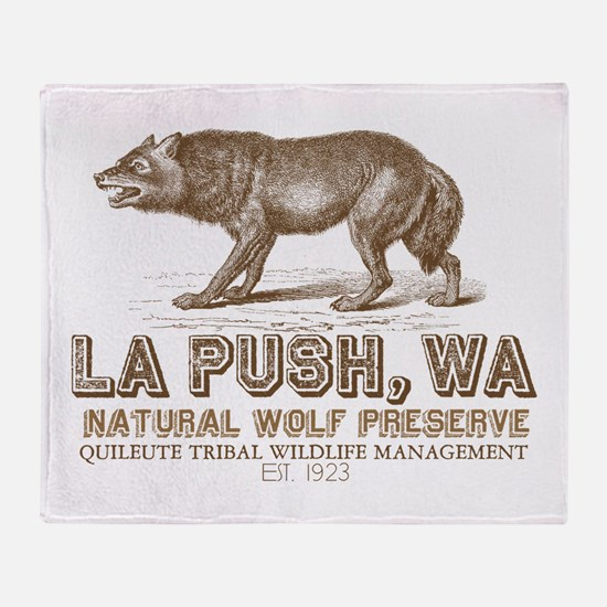 Quileute Wolf Preserve Throw Blanket