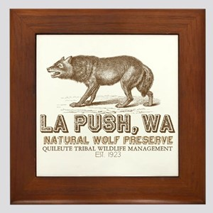 Quileute Wolf Preserve Framed Tile