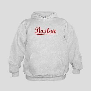 Boston, Vintage Red Kids Hoodie