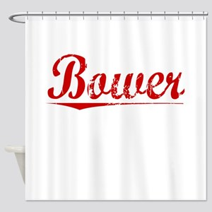 Bower, Vintage Red Shower Curtain