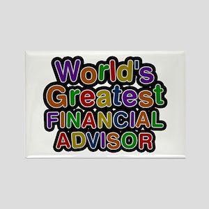 World's Greatest FINANCIAL ADVISOR Rectangle Magne