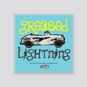 """Greased Lightning Square Sticker 3"""" x 3"""""""