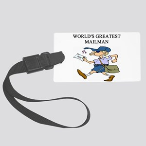 worlds greatest mailman Large Luggage Tag