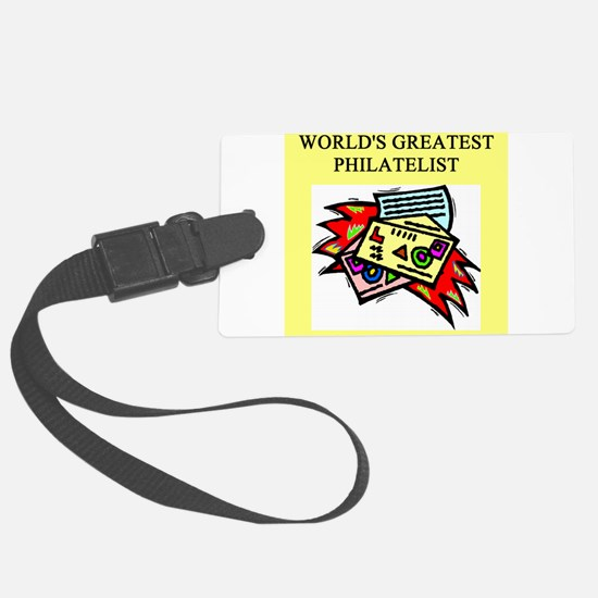 worlds greatest philatelist stamp collector Luggage Tag