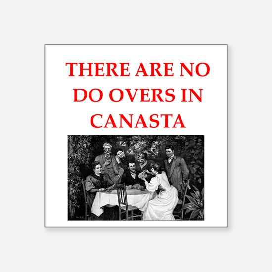"""CANASTA. gifts t-shirts Square Sticker 3"""" x 3"""""""