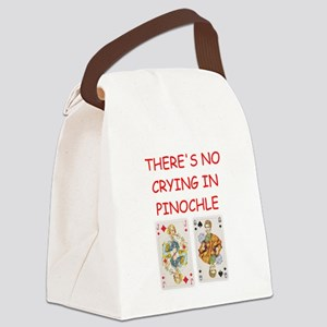 PINOCHLE player gifts t-shirts Canvas Lunch Bag