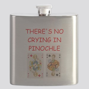 PINOCHLE player gifts t-shirts Flask