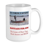 Ice Fishing Large Mug