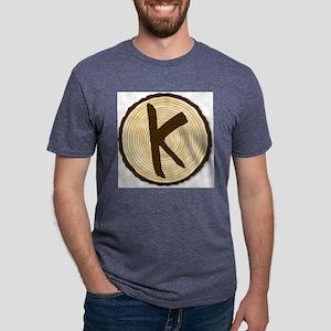 Letter K Log End Mens Tri-blend T-Shirt
