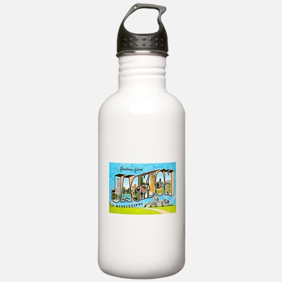 Jackson Mississippi Greetings Water Bottle