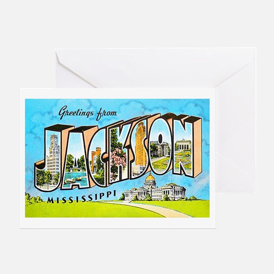 Jackson Mississippi Greetings Greeting Card