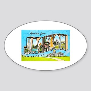 Jackson Mississippi Greetings Sticker (Oval)