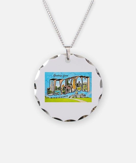 Jackson Mississippi Greetings Necklace