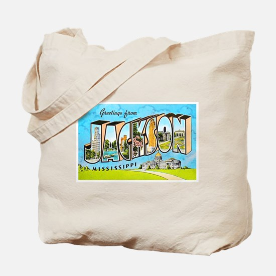 Jackson Mississippi Greetings Tote Bag