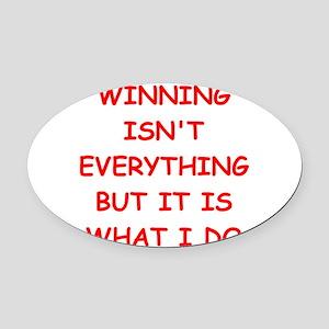 WINner Oval Car Magnet