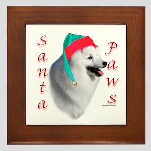Eskimo Dog Paws Framed Tile