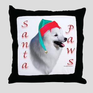 Eskimo Dog Paws Throw Pillow