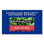 SPINACH ALERT Rectangle Sticker