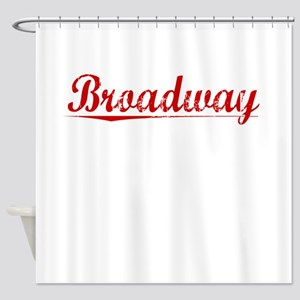 Broadway, Vintage Red Shower Curtain