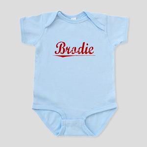 Brodie, Vintage Red Infant Bodysuit